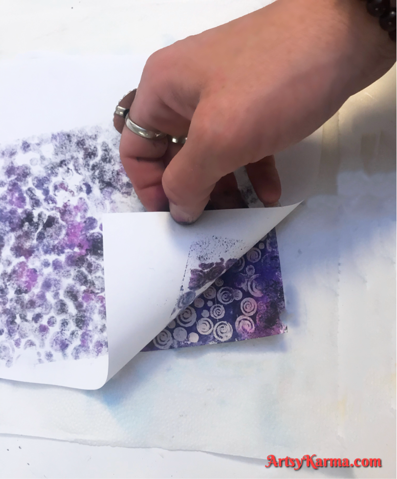 alcohol ink and embossing powder