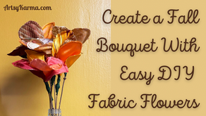 DIY Easy Fabric Flowers for Your Fall Centerpiece