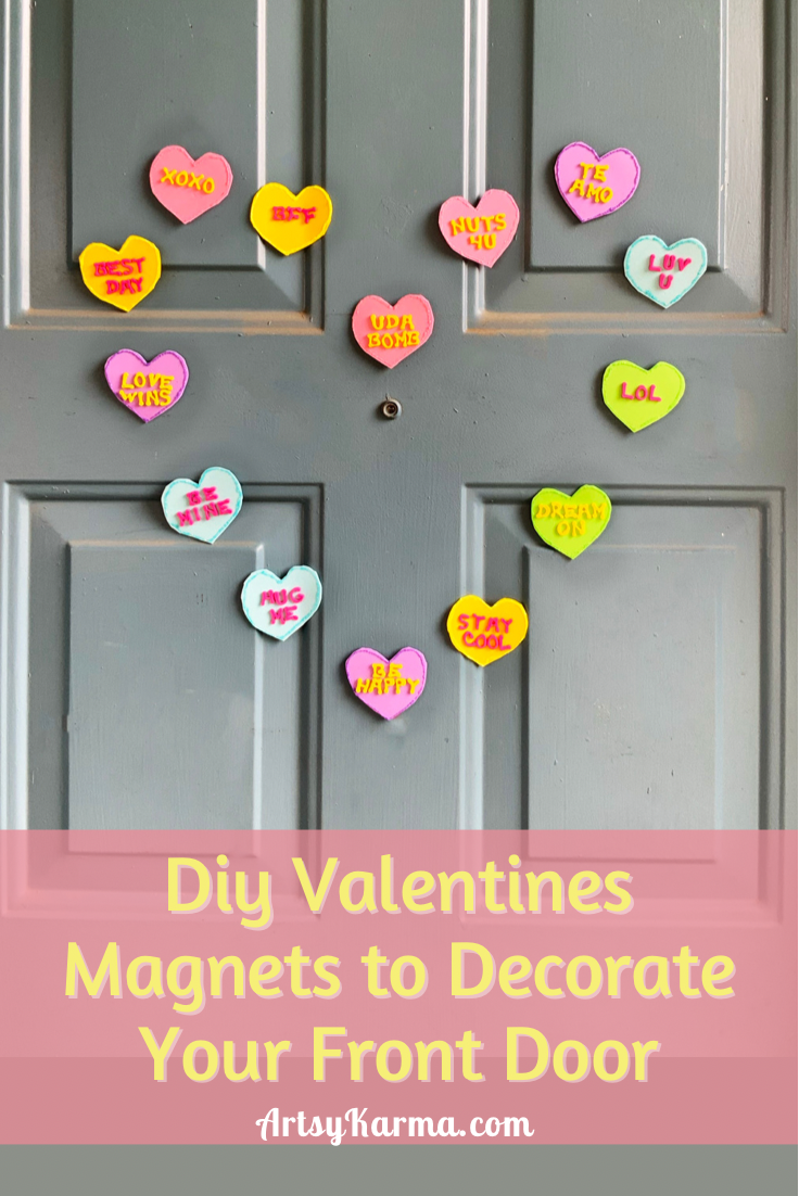 DIY Valentines Magnets to Decorate Your Front Door
