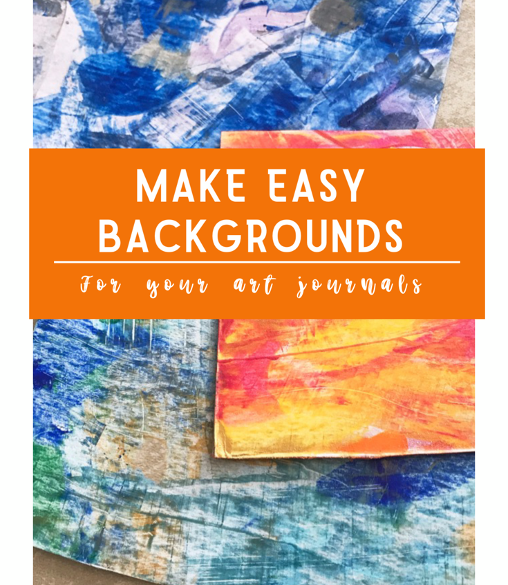 make acrylic backgrounds for art journals
