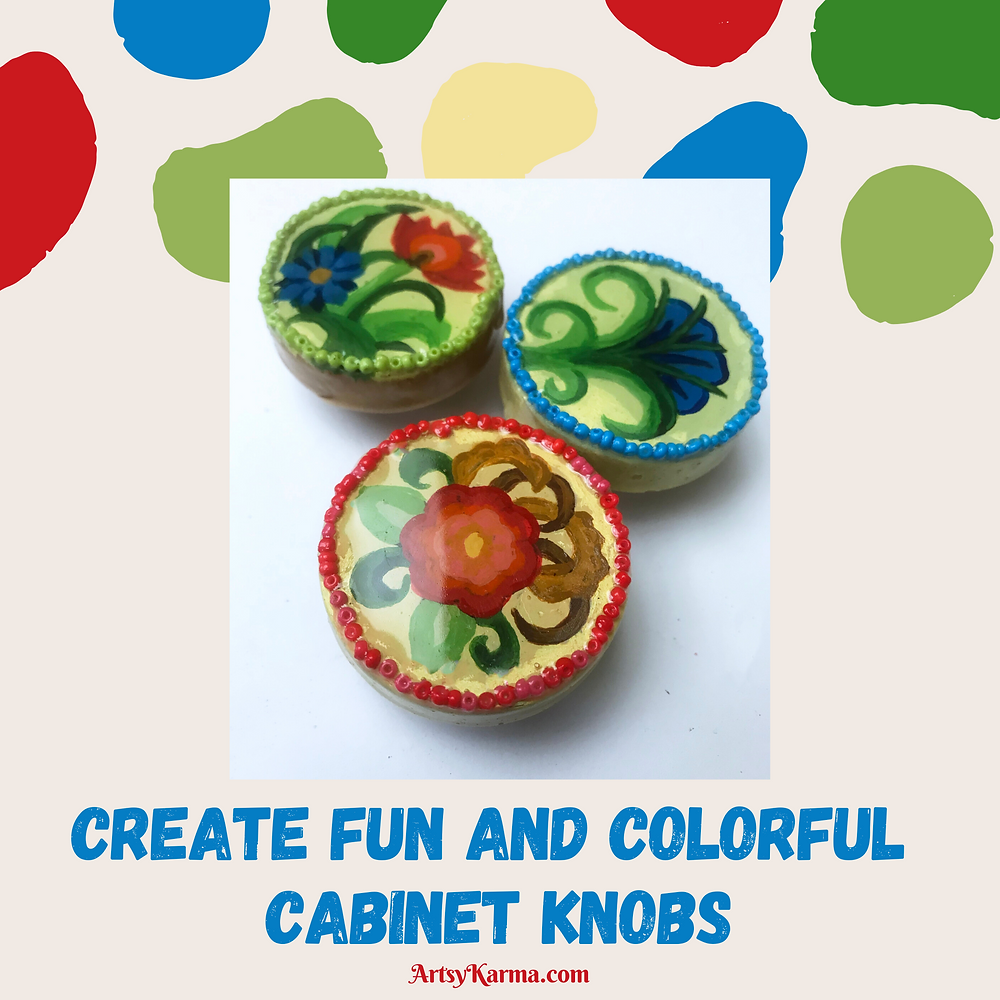 diy colorful cabinet knobs