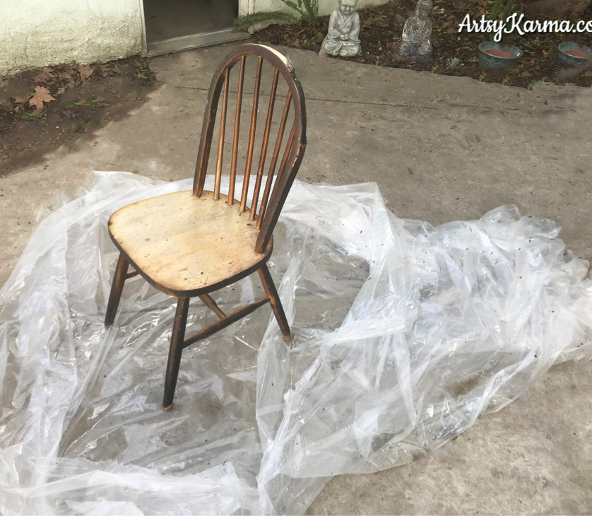 put plastic under before priming your chair