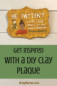 get inspired with a diy clay plaque