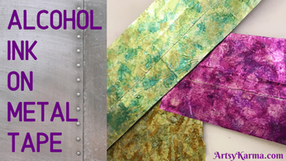 Alcohol Ink on Metal Tape Background Technique