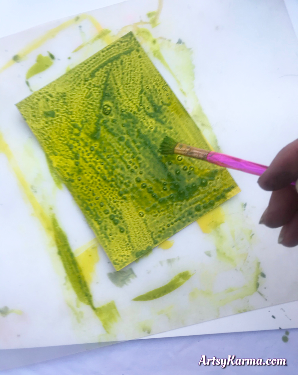 Find out what happens when you mix rubbing alcohol with acrylic paints