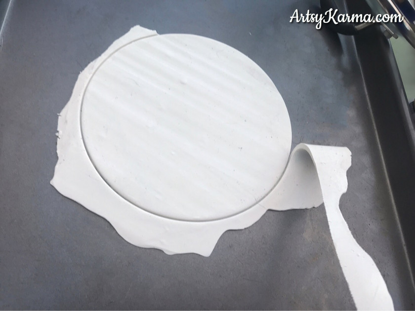 getting clay shape for diy ring dish