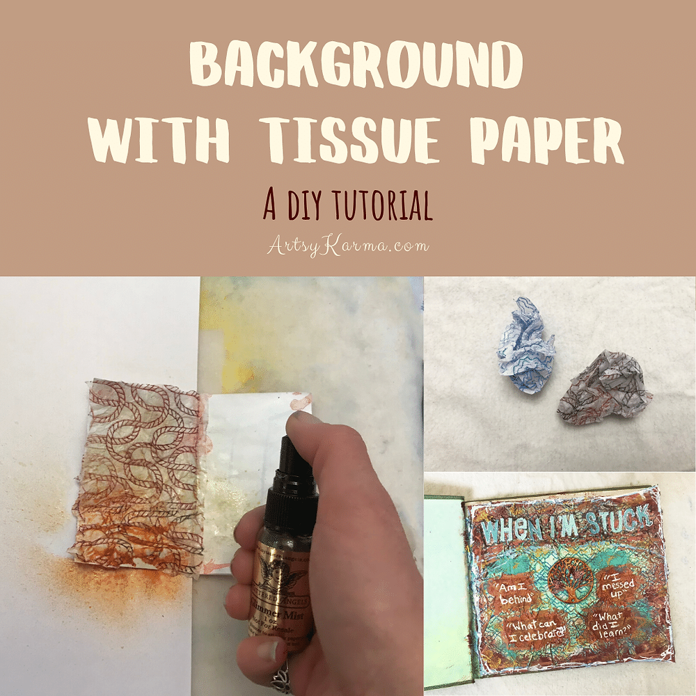 diy tutorial for mixed media background