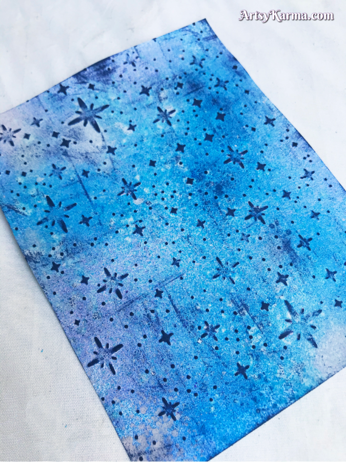 Dry embossing card stock for paper crafts