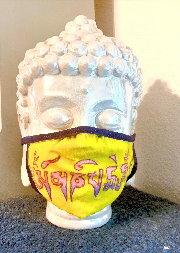 Om Mani Peme Hum mask