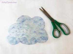 cut out cloud for a crystal rain cloud sun catcher