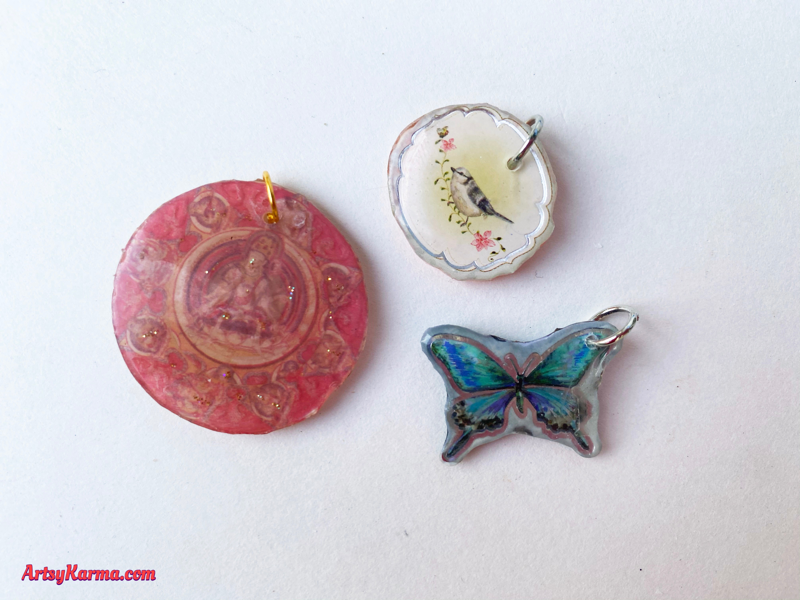 How to make earrings and charms out of paper.