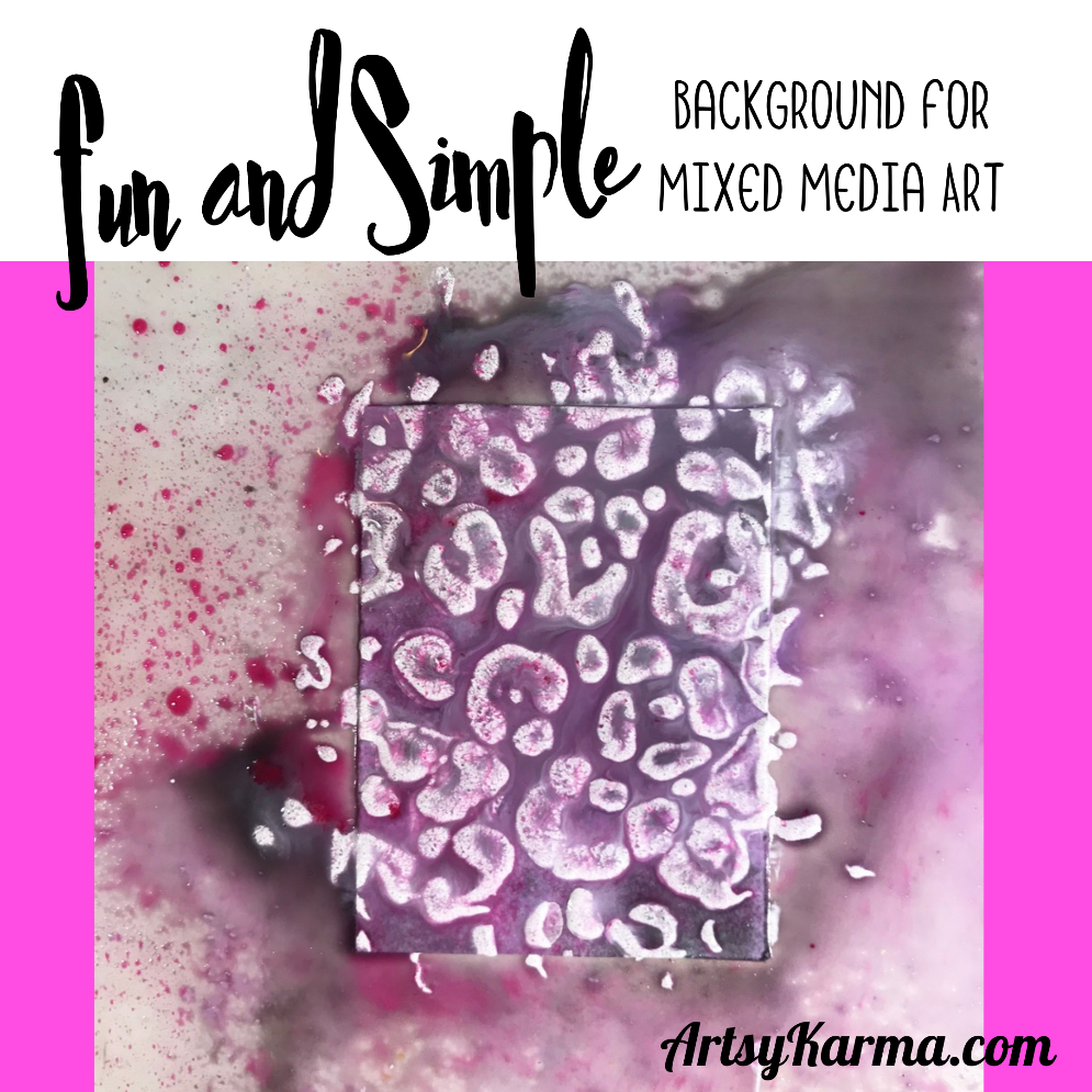 fun and simple background for mixed media art