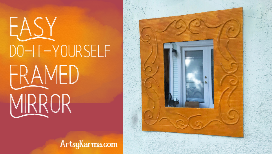easy diy framed mirror