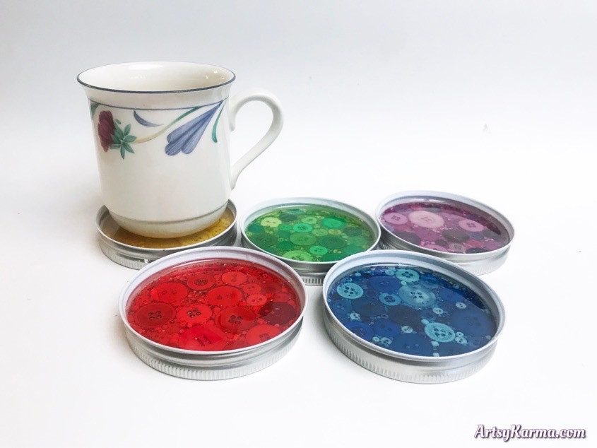 How to make DIY button and resin coasters