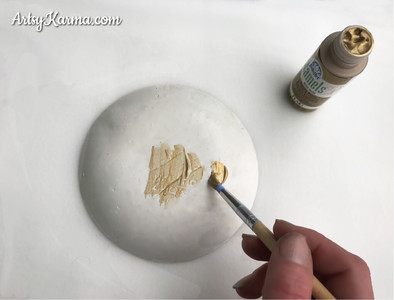 paint the diy ring dish with gold