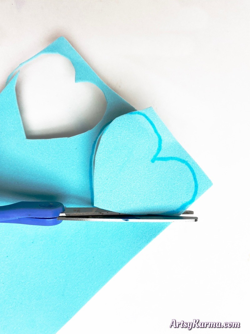 Make craft foam hearts