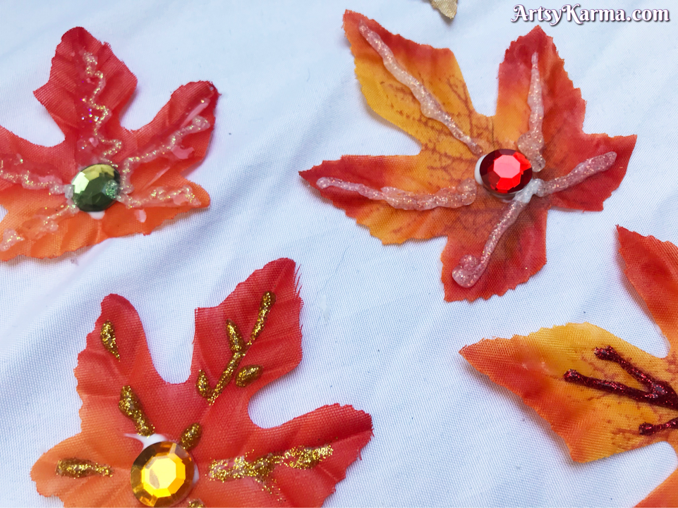 Decorating fall leaves for your front door