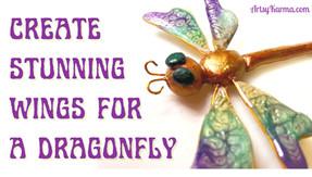 DIY Dragonfly Wings Using Liquid Polymer Clay