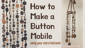 How to Make a Button Mobile Craft Project