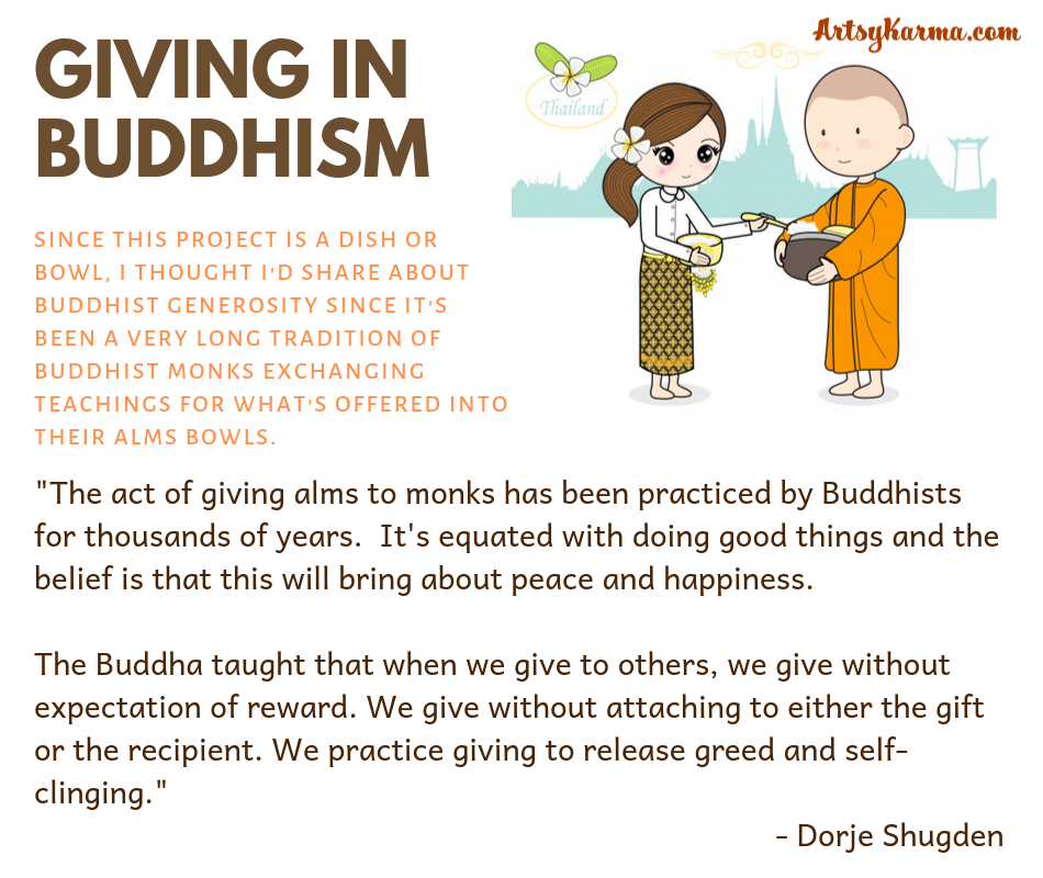 giving in buddhism teaching