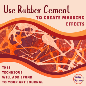 rubber cement background effects