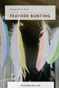 spring porch decor feather bunting