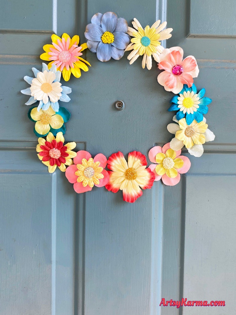Spring flowers craft project