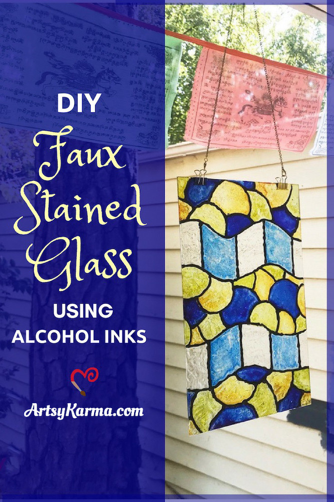 dit faux stained glass