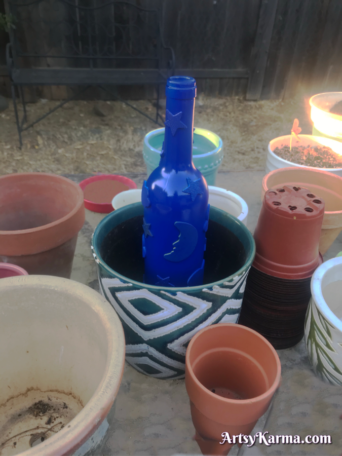 How to make spray painted wine bottle lights