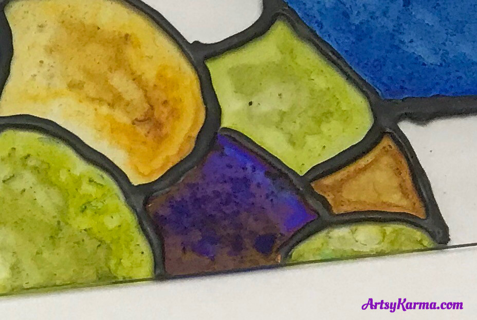 stained glass look with alcohol inks