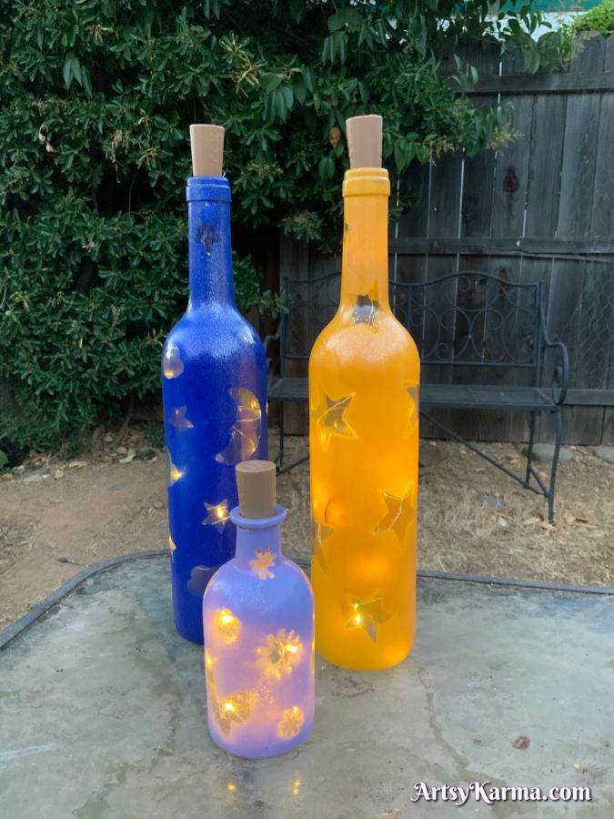 Diy wine bottle with lights