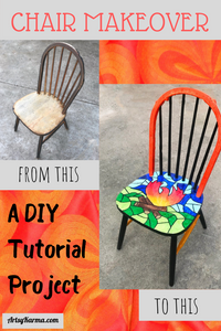 chair makeover  diy tutorial