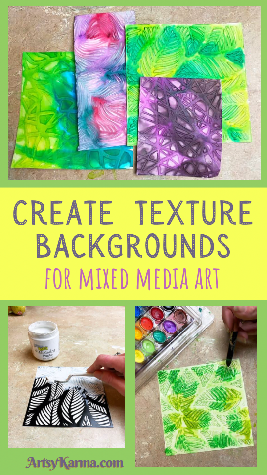 Create texture backgrounds for mixed media