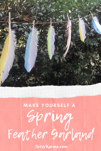 make yourself a spring feather garland