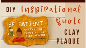 Make an Inspirational Quote Plaque Using Clay