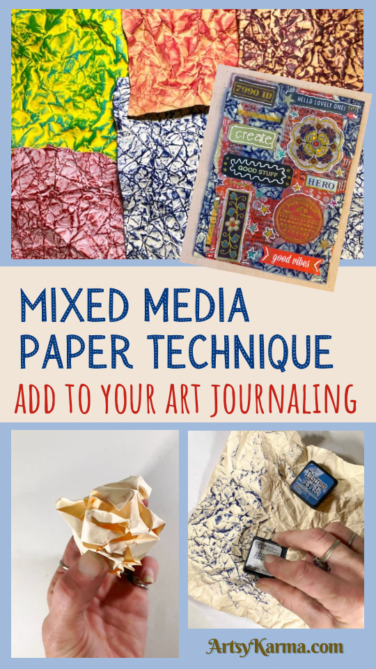 Mixed media paper technique to add to your art journals