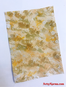 Alcohol ink embossed background
