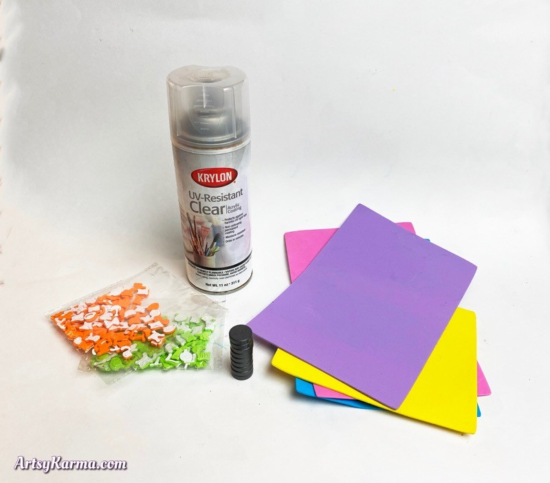 Supplies to make valentines day craft