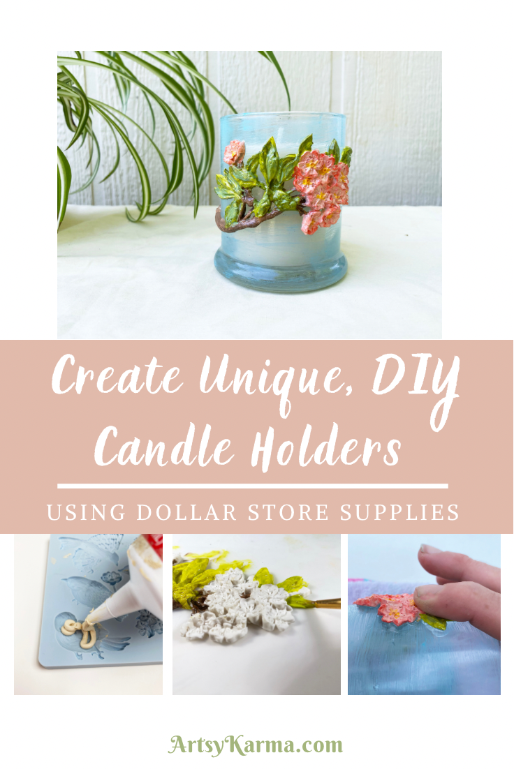 Create unique, DIY candle holders