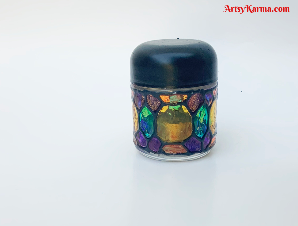 How to make colored  jars