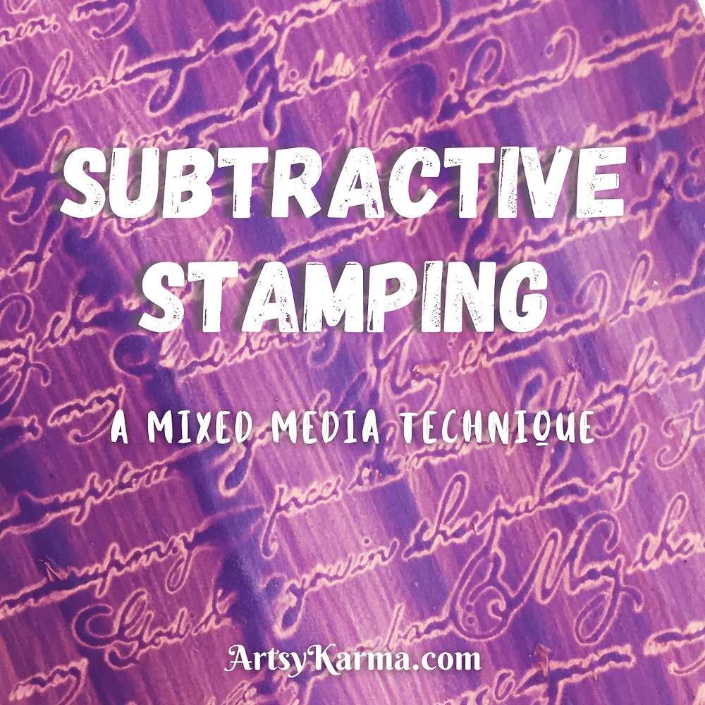 Subtractive stamping - a background technique