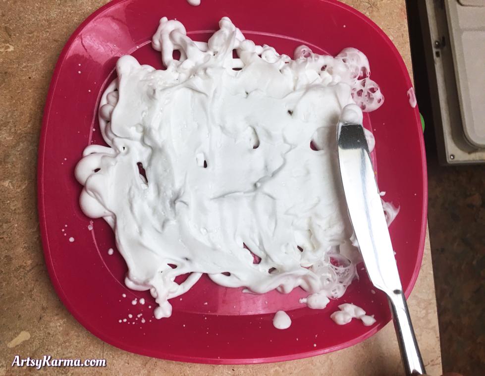 Shaving cream background technique