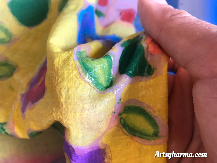 how to remove gel glue from painted fabric