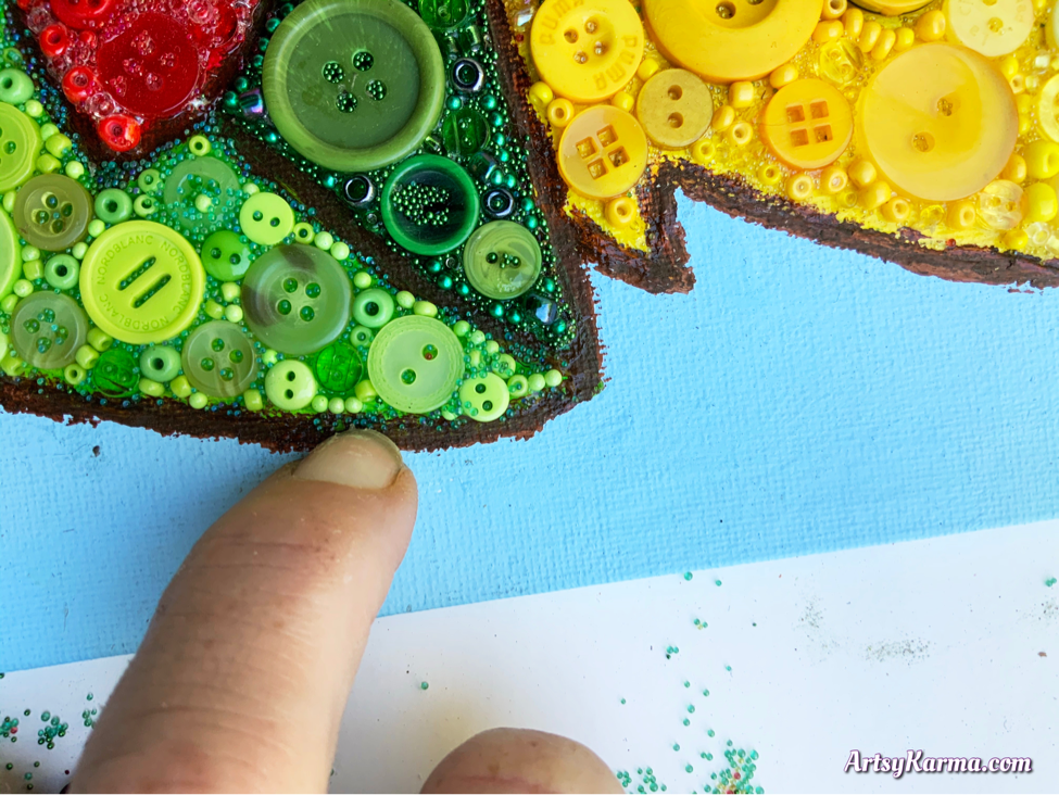 Diy button art is a simple and unique project idea