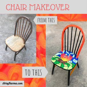 camp fire chair makeover