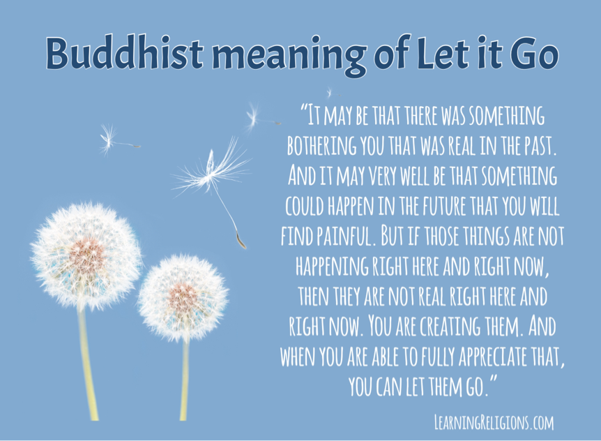 buddhist meaning of let it go