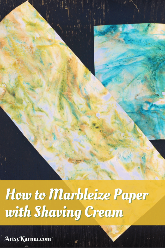 How to marbleize paper using shaving cream