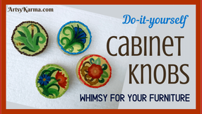 DIY Fun and Colorful Cabinet Knobs