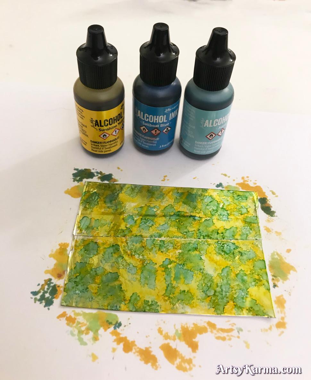 Alcohol ink diy mixed media tutorial