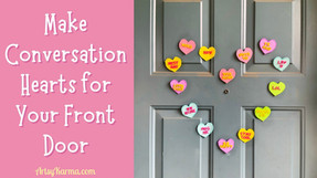 DIY Conversation Hearts Magnets: Valentines Day Craft